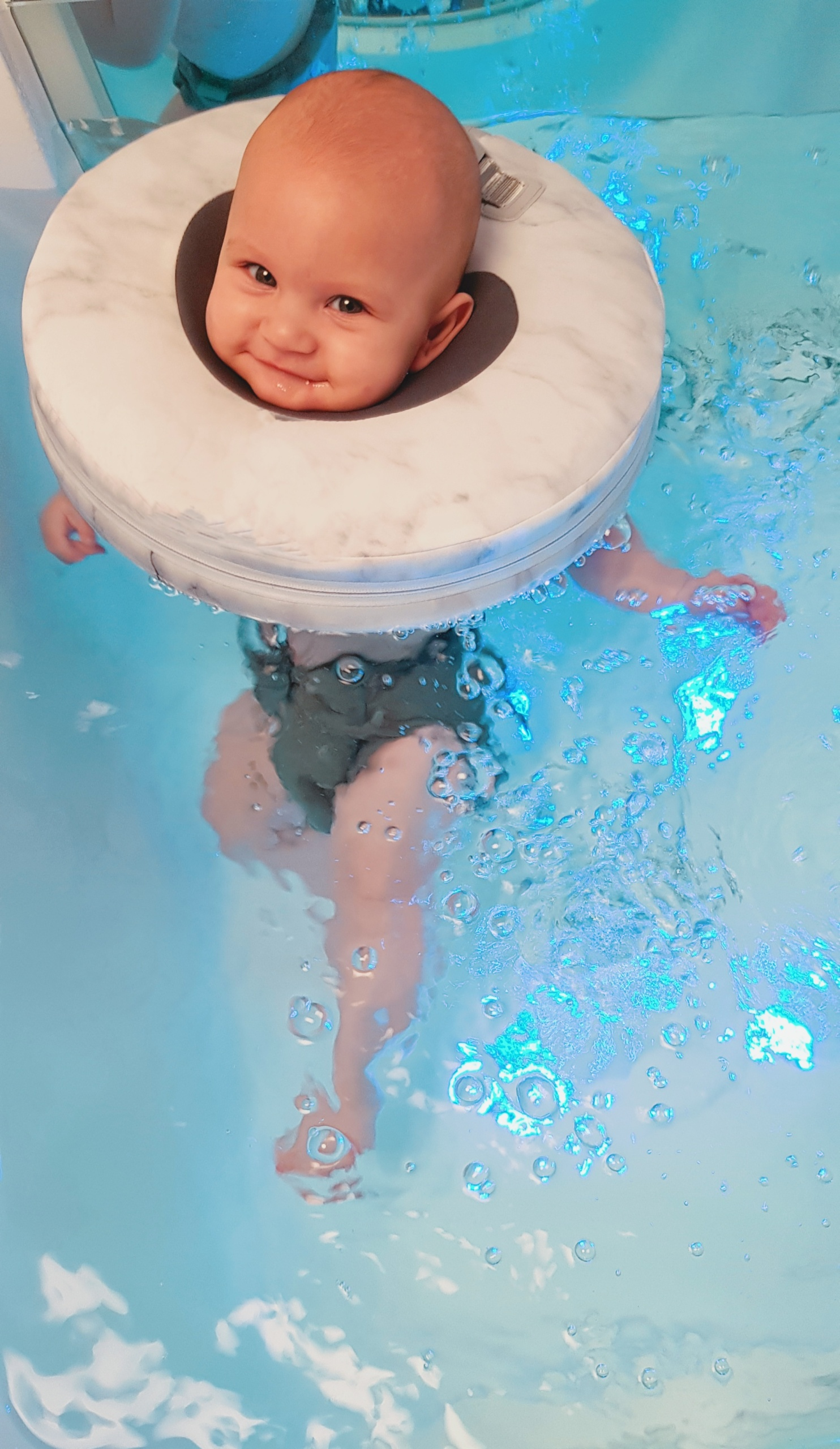 Baby in spa